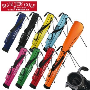 ゴルフ セルフバッグ ストレッチ ブルーティーゴルフ 2分割 セルフスタンドバッグ 5-6本収納 CC-001 アプローチバッグ クラブケース|noblegolf
