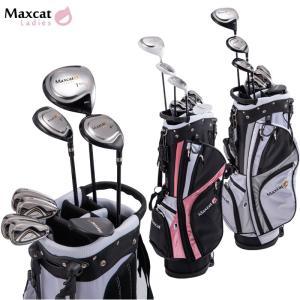 ゴルフセット フルセット レディースクラブセット 女性用 マックスキャット MAXCAT 軽量 キャディバッグ付き|noblegolf
