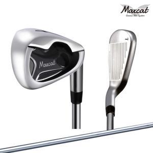 ゴルフ アイアンセット メンズ マックスキャット 6本セット MAXCAT ワイドソール ミスショットに強い 初心者向け|noblegolf