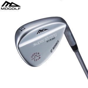 ゴルフ ウェッジ MDゴルフ スピンコントロール シルバーサテン MDGOLF スチールシャフト フレックスS|noblegolf