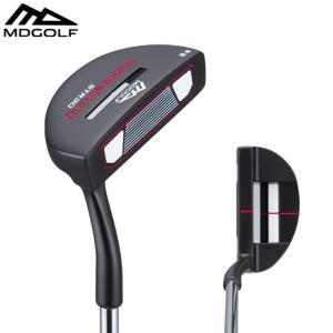 ゴルフ パター MDゴルフ マレット型 ブラック MDGOLF ZP2 ベントネック 34インチ|noblegolf