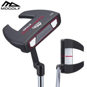 ゴルフ パター MDゴルフ ネオマレット型 ブラック MDGOLF ZP4 クランクネック 34インチ|noblegolf