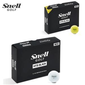 ゴルフ ボール スネルゴルフ マイツアー BLACK Snell GOLF MTB MY TOUR BALL ボール 1ダース スネルボール 2018|noblegolf