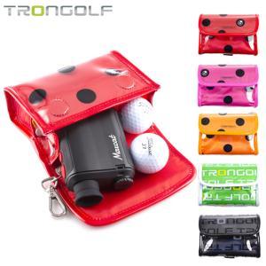 ゴルフ ポーチ TRON GOLF 距離計ケース ボールケース 小物入れ ゴルフポーチ ボール入れ ...