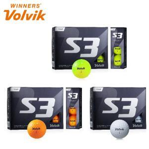 ボルビック Volvik S3 ゴルフ ボール 新作 スピンに優れた 3ピース ウレタンカバー|noblegolf