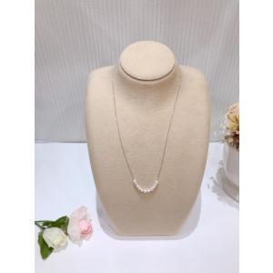 ベビーアコヤ パール ネックレス K18WG ホワイトゴールド 本真珠 贈り物 プレゼント|noblesse-oblige1