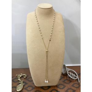 アコヤパール ゴールド ラリエット 本真珠 贈り物 プレゼント |noblesse-oblige1
