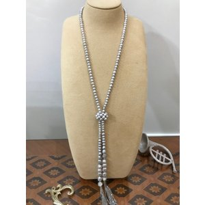淡水パール ラリエット ホワイト グレー 真珠 ネックレス おしゃれ 贈り物 プレゼント|noblesse-oblige1