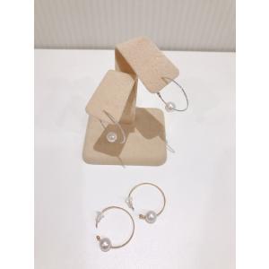 アコヤパール フープピアス ゴールド ホワイトゴールド K18 本真珠 おしゃれ 贈り物 プレゼント|noblesse-oblige1