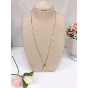 南洋ゴールデンパール 大粒 ゴールド ネックレス 真珠 K18 金 贈り物 プレゼント|noblesse-oblige1