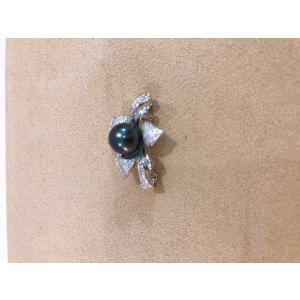 黒蝶真珠 ブローチ おしゃれ パール 贈り物 プレゼント 本真珠 シルバー|noblesse-oblige1