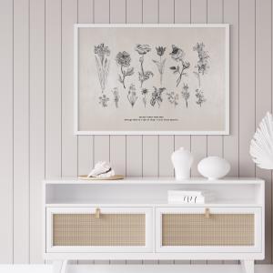 ポスター インテリア A3サイズサイズ 世界にひとつだけの花 イラスト モノクロ おしゃれ 模様替え 雑貨 おしゃれな北欧風 インテリアアートポスター|nobori-king|02