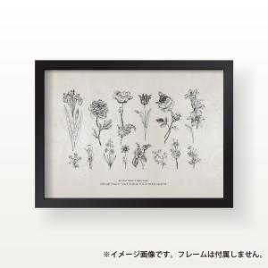 ポスター インテリア A3サイズサイズ 世界にひとつだけの花 イラスト モノクロ おしゃれ 模様替え 雑貨 おしゃれな北欧風 インテリアアートポスター|nobori-king|05