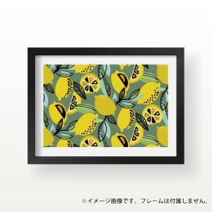 ポスター インテリア A3サイズ レモン 檸檬 果物 カフェ風 一人暮らし おしゃれな北欧風 インテリアアートポスター nobori-king 05