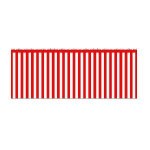 紅白幕(綿) 1間(1800mm)×3間(5400mm) No.1953|noboristore