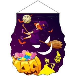 ユニークカット吊下旗 Halloween 魔女 No.25868|noboristore