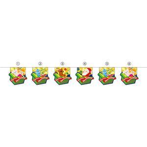 ユニークカット6連ペナント MerryChristmas箱 No.26264 (受注生産)|noboristore