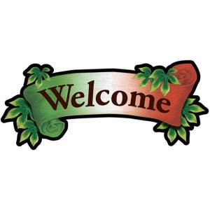 デコレーションパネル Welcome イタリアンリボン No.26893 noboristore