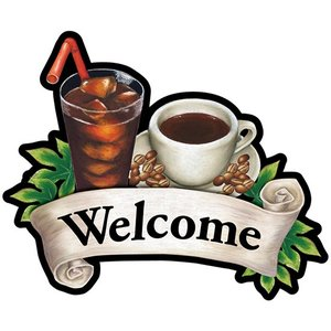 デコレーションパネル Welcome コーヒー No.26895 noboristore