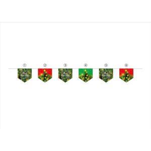 連続旗 Christmas ツリー緑地 6連 40196 (受注生産)|noboristore