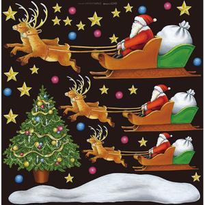クリスマス(2) デコレーションシール (W285×H285mm)  No.6349|noboristore
