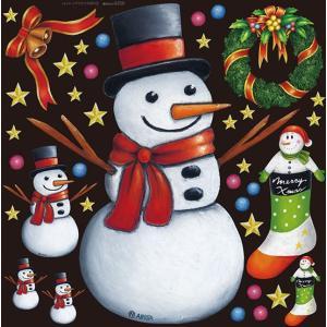 クリスマス(3) デコレーションシール (W285×H285mm)  No.6350|noboristore