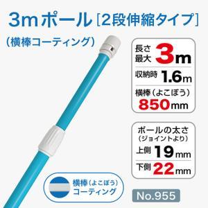 3mコーティング加工ポール/青/φ22mm/横棒850mmコーティング No.955 noboristore