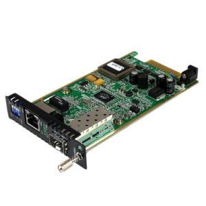 StarTech.com ギガビットイーサネット対応メディアコンバータ オープンSFPスロット ラック収容対応カードモジュール 光ファイバ - イーサ|nobuaki-shop