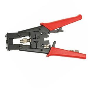 NUZAMAS 同軸ケーブル 多機能同軸圧縮コネクタ 圧縮工具 RG58 RG59 RG6 F BNC RCA用調整工具 ワイヤカッター 圧着ペンチ|nobuaki-shop