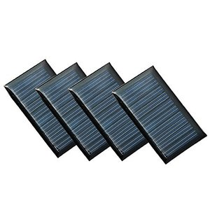 NUZAMAS 4組 5V 30ma ソーラーパネル専門屋出品 超薄型軽量 携帯型 多結晶フレキシブル ソーラーパネル DIY モジュール|nobuaki-shop