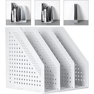 Deli A4ファイルボックス 折りたたみ式ファイルボックス 3つの垂直コンパートメントを備えたオフィスの整理と保管のため オフィス収納 文具収納 事 nobuaki-shop