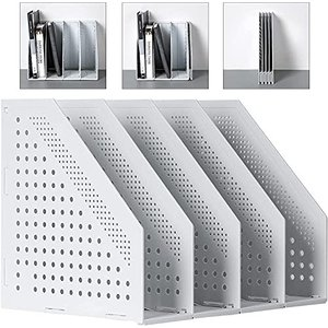 Deli A4ファイルボックス 折りたたみ式ファイルボックス 4つの垂直コンパートメントを備えたオフィスの整理と保管のため オフィス収納 文具収納 事 nobuaki-shop