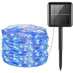 vviho LED イルミネーションライト 10m 100球 ソーラー充電式 (ブルー)|nobuaki-shop