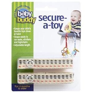 Baby Buddy ベビー バディ Secure-A-Toy 2ct おもちゃストラップ ステッチ 1柄各2本組 【アメリカ製】 Novacheck|nobuaki-shop