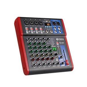 高音質! D Debra AudioProポータブルレコーディングミキサーオーディオ(USB 99 DSPデジタルエフェクト付き)DJミキサーコンソー nobuaki-shop