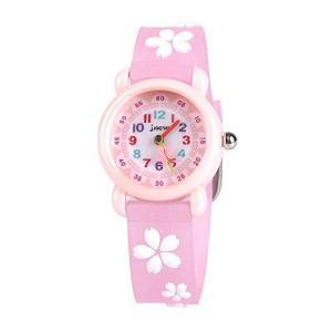 子供用 腕時計 ColiChili 女の子 ウォッチ 防水 3D 桜ウォッチ アラビア数字 見やすいかわいい アナログ表示 ピンク ガールズ 卒園 入|nobuaki-shop