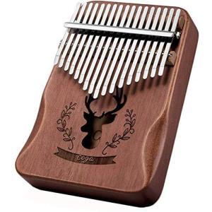 YUANSHENG高品質の17鍵カリンバ, 親指ピアノ Kalimba 17音の指ピアノ, ハンマー、スタディガイド。 (レトロな色) nobuaki-shop