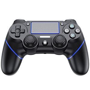 【2021】PS4 コントローラー 無線 Bluetooth接続 ワイヤレス コントローラー 振動機能 ゲームパット イヤホンジャック ジャイロセンサ nobuaki-shop