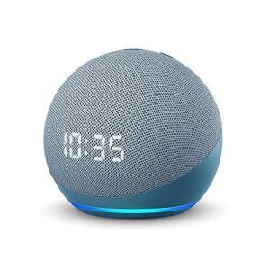 Echo Dot (エコードット) 第4世代 - 時計付きスマートスピーカー with Alexa、トワイライトブルー|nobuaki-shop