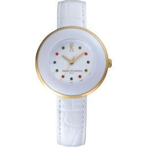 ロベルタ カラーストーン腕時計 ホワイトRC7854−08WH