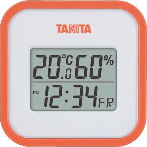 タニタ デジタル温湿度計 オレンジ 0310-038