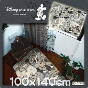 ラグ ディズニー カーペット 100x140cm DRM−4023 ミッキー|nodac