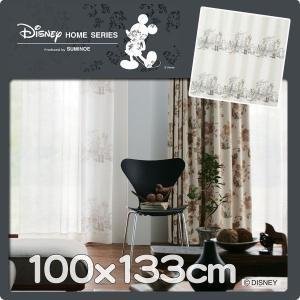 レースカーテン ディズニー プーさん 巾100cmx丈133cm 1枚 M1103|nodac