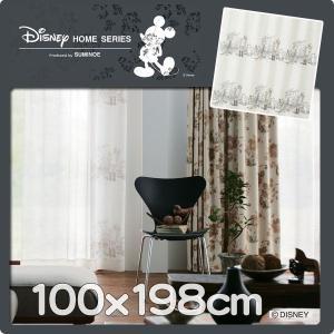 レースカーテン ディズニー プーさん 巾100cmx丈198cm 1枚 M1103|nodac