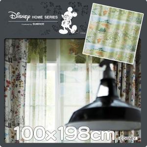 レースカーテン ディズニー プーさん 巾100cmx丈198cm 1枚 M1108|nodac