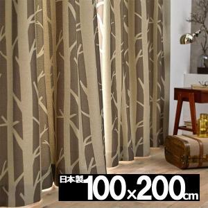 カーテン おしゃれ 安い 巾100cmx丈200cm 1枚 SHIRAKABA シラカバ