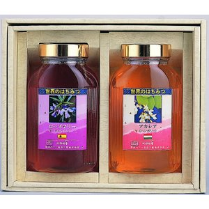 純粋蜂蜜のギフトセットです。 ハンガリー産アカシアとスペイン産ローズマリーをそれぞれ1kgを瓶詰めし...