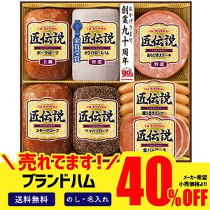 40%OFF お歳暮 御歳暮 2021 ギフト 冬ギフト 送料無料 ハム ハムギフト 詰め合わせ 肉 食べ物 プリマハム 匠伝説ギフト「TLD-S」|noel-deco