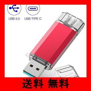TypeC USBメモリ RAOYI 64GB USB3.0 タイプCフラッシュドライブ 2in1 高速デュアルフラッシュディスク(TypeC+US|noel-honpo
