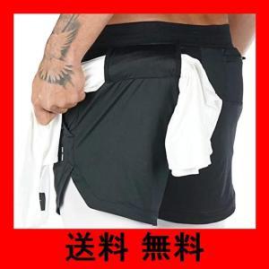 [ウィトパ] スポーツウェア ランニング 夏 パンツ ハーフタイツ ショートパンツ ポケット スマホ入れ タオル 収納 機能 メンズ M〜2XL 3|noel-honpo